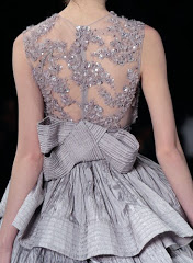 grey sequins and bow gown via pinterest via wondertruckandenchanted.tumblr